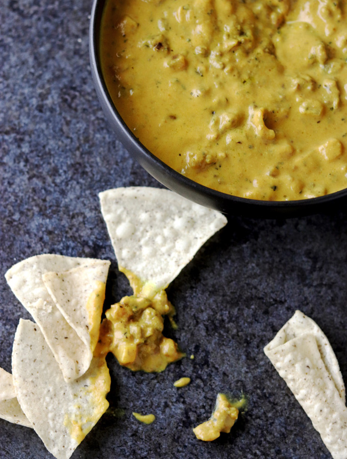 """Unbelievably delicious and packed with flavor! This """"Cheesy"""" Taco Dip is so incredibly cheesy that you'd never guess it's AIP, Paleo, dairy-free, and nightshade-free! Enjoy it with plantain chips or your favorite grain-free tortilla chips!"""