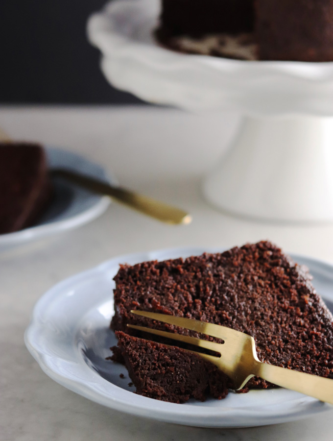 "Whip up this homemade chocolate cake to celebrate a special occasion or for simply no reason at all! It's literally the Best-Ever Chocolate Cake you will ""ever"" eat, and no one will ""ever"" know it's Paleo!!"